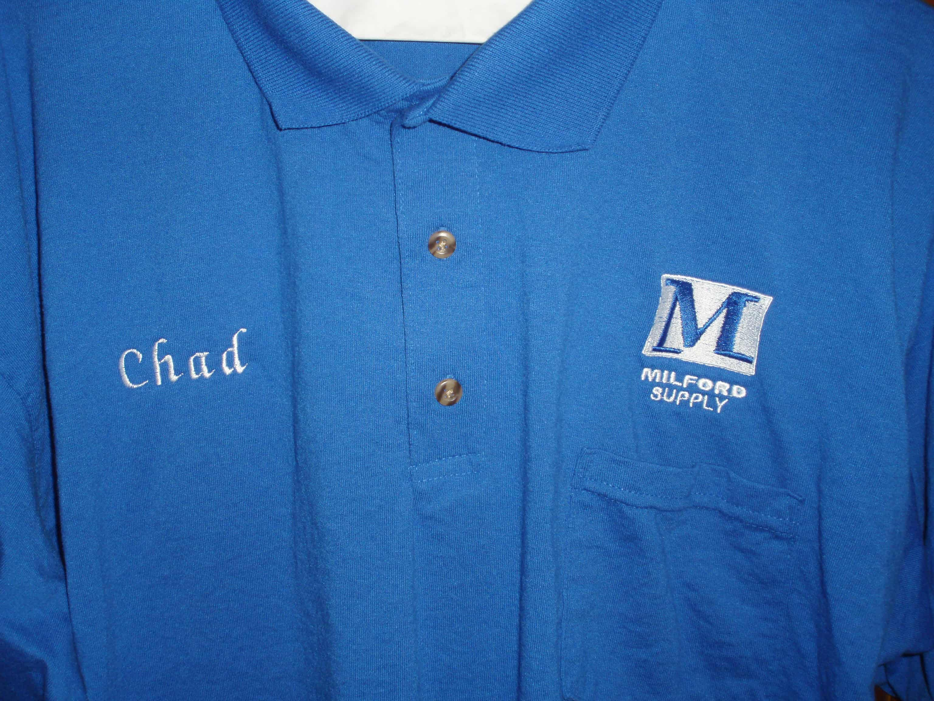 polo shirt embroidered with company logo embroidery for you