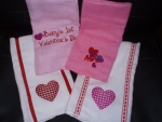 Valentine Burp Cloths