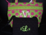 Monogramed Lunch Totes and Purses