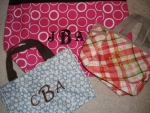 Monogrammed or Personalized Tote Bags