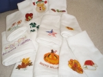 Set of 12 Holiday Finger Tip towels