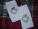 Holiday fingertip, hand, & kitchen towels