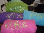 Customized or Monogrammed Beach Towels